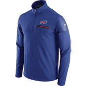 Nike Men's Buffalo Bills Sideline 2016 Elite Coaches Quarter-Zip Royal Pullover