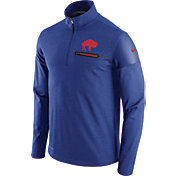 Nike Men's Buffalo Bills Sideline 2016 Elite Coaches Throwback Royal Quarter-Zip Pullover