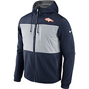 Nike Men's Denver Broncos Championship Drive 2016 Fleece Navy Full-Zip Hoodie