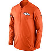 Nike Men's Denver Broncos Lockdown Orange Full-Zip Performance Jacket