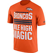 Nike Men's Denver Broncos 'Mile High Magic' Performance Orange T-Shirt