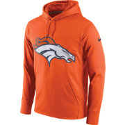 Nike Men's Denver Broncos Performance Circuit Logo Essential Orange Hoodie