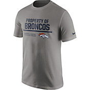 Nike Men's Denver Broncos 'Property Of' Grey T-Shirt