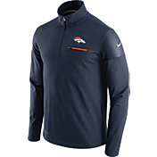 Nike Men's Denver Broncos Sideline 2016 Elite Coaches Quarter-Zip Navy Pullover