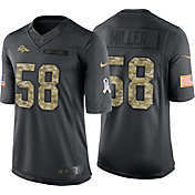 Nike Men's Home Limited Jersey Denver Broncos Von Miller #58 Salute to Service 2016