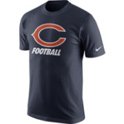 Nike Men's Chicago Bears Facility Navy T-Shirt