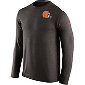 Nike Men's Cleveland Browns Sideline 2016 Dri-FIT Touch Brown Long Sleeve Shirt