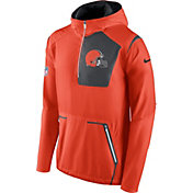Nike Men's Cleveland Browns Sideline 2016 Alpha Fly Rush Orange Jacket