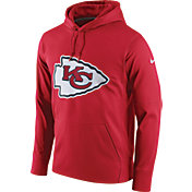 Nike Men's Kansas City Chiefs Performance Circuit Logo Essential Red Hoodie