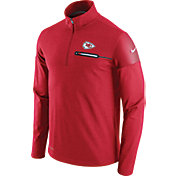 Nike Men's Kansas City Chiefs Sideline 2016 Elite Coaches Quarter-Zip Red Pullover