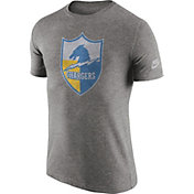 Nike Men's Los Angeles Chargers Tri-Blend Historic Logo Grey T-Shirt