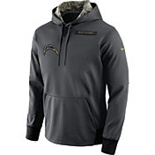 Nike Men's San Diego Chargers Salute to Service 2016 Anthracite Pullover Hoodie