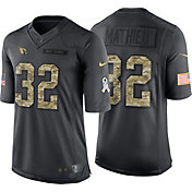 Nike Men's Home Limited Jersey Arizona Cardinals Tyrann Mathieu #32 Salute to Service 2016