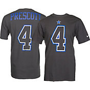 Nike Men's Dallas Cowboys Dak Prescott #4 Travel Charcoal T-Shirt