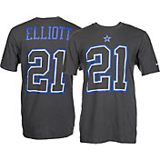 Nike Men's Dallas Cowboys Ezekiel Elliott #21 Travel Charcoal T-Shirt