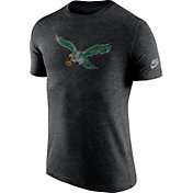 Nike Men's Philadelphia Eagles Tri-Blend Historic Logo Black T-Shirt