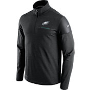 Nike Men's Philadelphia Eagles Sideline 2016 Elite Coaches Quarter-Zip Black Pullover