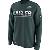 Nike Men's Philadelphia Eagles Team Practice Performance Teal Long Sleeve Shirt