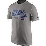 Nike Men's New York Giants 'Property Of' Grey T-Shirt