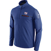 Nike Men's New York Giants Sideline 2016 Elite Coaches Quarter-Zip Blue Pullover