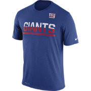 Nike Men's New York Giants Practice Blue T-Shirt