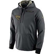 Nike Men's Jacksonville Jaguars Salute to Service 2016 Anthracite Pullover Hoodie