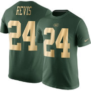 Nike Men's New York Jets Darrelle Revis #24 Championship Gold T-Shirt