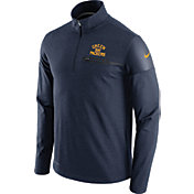Nike Men's Green Bay Packers Sideline 2016 Elite Coaches Throwback Navy Quarter-Zip Pullover
