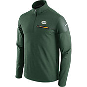 Nike Men's Green Bay Packers Sideline 2016 Elite Coaches Quarter-Zip Green Pullover