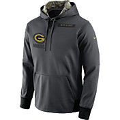 Nike Men's Green Bay Packers Salute to Service 2016 Anthracite Pullover Hoodie