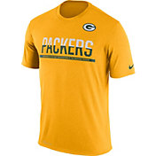 Nike Men's Green Bay Packers Practice Gold T-Shirt