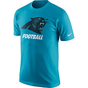 Nike Men's Carolina Panthers Facility Blue T-Shirt