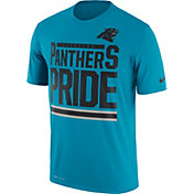 Nike Men's Carolina Panthers 'Pride' Performance Blue T-Shirt