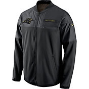 Nike Men's Carolina Panthers Salute to Service 2016 Hybrid Black Jacket