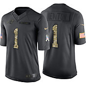 Nike Men's Home Limited Jersey Carolina Panthers Cam Newton #1 Salute to Service 2016