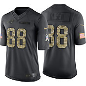 Nike Men's Home Limited Jersey Carolina Panthers Greg Olsen #88 Salute to Service 2016