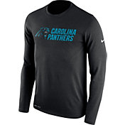 Nike Men's Carolina Panthers Essential Lockup Black Long Sleeve Shirt