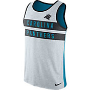Nike Men's Carolina Panthers Stripe Tri-Blend Blue Tank