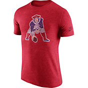 Nike Men's New England Patriots Tri-Blend Historic Logo Red T-Shirt