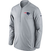 Nike Men's New England Patriots Lockdown Grey Full-Zip Performance Jacket