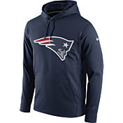 Nike Men's New England Patriots Performance Circuit Logo Essential Navy Hoodie