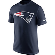 Nike Men's New England Patriots Essential Logo Navy T-Shirt