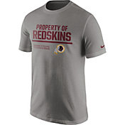 Nike Men's Washington Redskins 'Property Of' Grey T-Shirt