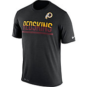Nike Men's Washington Redskins Practice Black T-Shirt