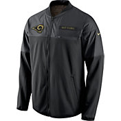 Nike Men's Los Angeles Rams Salute to Service 2016 Hybrid Black Jacket