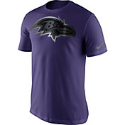 Nike Men's Baltimore Ravens Championship Drive 2016 Reflective Logo Purple T-Shirt