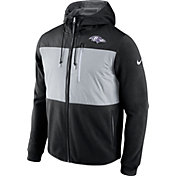 Nike Men's Baltimore Ravens Championship Drive 2016 Fleece Black Full-Zip Hoodie