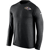 Nike Men's Baltimore Ravens Sideline 2016 Dri-FIT Touch Black Long Sleeve Shirt