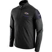 Nike Men's Baltimore Ravens Sideline 2016 Elite Coaches Quarter-Zip Black Pullover