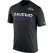 Nike Men's Baltimore Ravens Practice Black T-Shirt